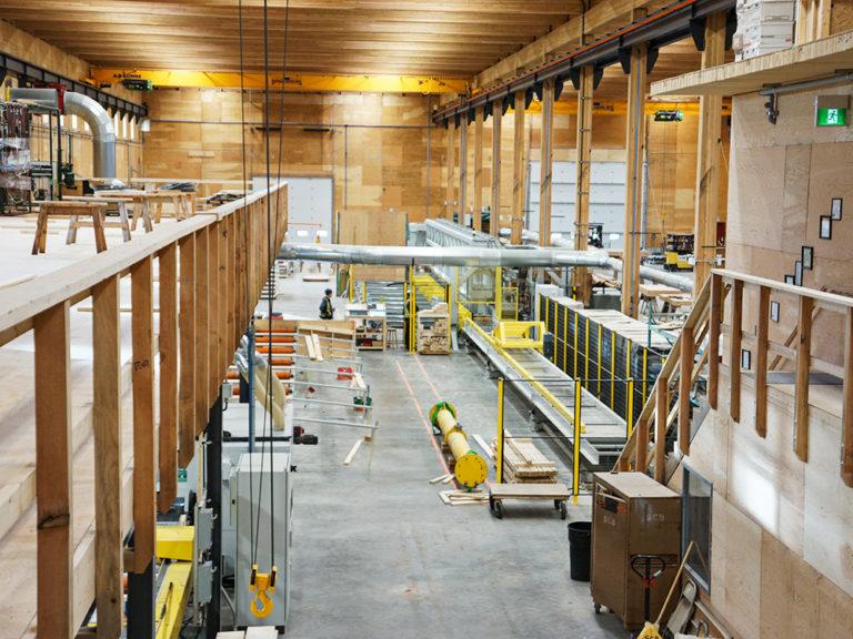 Dübelanlagen für Structercraft in Kanada der Firma Holmag AG, Schweiz